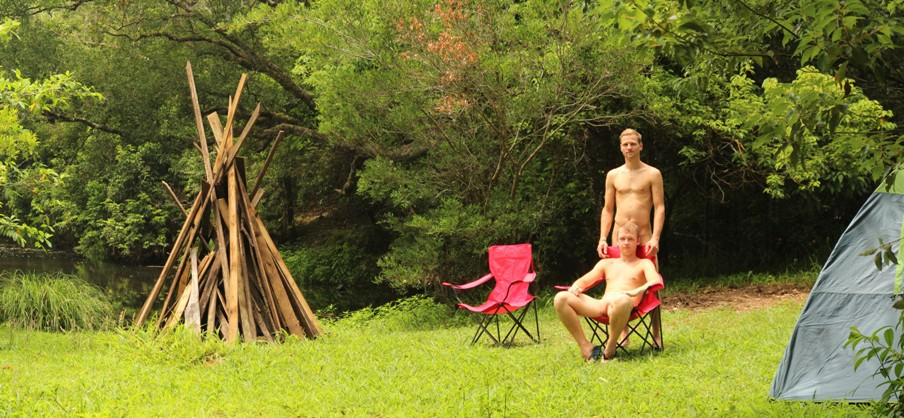 Happy campers chill out at Revelwood Photo Wayne Penn